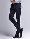 זול מכנסיים ושורטים לגברים-בגדי ריקוד גברים רזה חליפות מכנסיים - אחיד מותניים גבוהים שחור