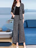 baratos Vestidos para Trabalhar-Mulheres Moda de Rua / Temática Asiática Conjunto Sólido / Estampado Cashemere Calça