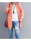 tanie Bluzka-Damskie Moda miejska Sweter rozpinany Solidne kolory
