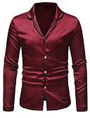ieftine Blazer & Costume de Bărbați-Bărbați Cămașă De Bază - Bloc Culoare