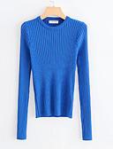 ieftine Bluză-Pentru femei Ieșire Manșon Lung Zvelt Plover - Mată Stil Nautic