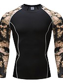 お買い得  メンズTシャツ&タンクトップ-男性用 Tシャツ ベーシック ラウンドネック 動物 コットン ブラック XL / 長袖