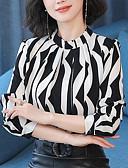 billige Bluser-Bomull Bluse Dame - Ensfarget / Geometrisk