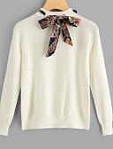 olcso Női pulóverek-Női Alap Pulóver - Fűzős, Egyszínű