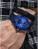 cheap Sport Watches-Men's Sport Watch Quartz Chronograph Casual Watch Cool Cloth Band Analog Vintage Fashion Black / Blue / Green - Black Green Blue One Year Battery Life