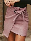 abordables Faldas para Mujer-Mujer Básico Corte Bodycon Faldas Un Color