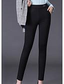 preiswerte Damen Leggings-Damen Grundlegend Legging - Solide Hohe Taillenlinie