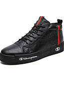 cheap Mother of the Bride Dresses-Men's Comfort Shoes Leather Winter Sporty / Casual Sneakers Keep Warm Black / Green