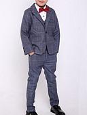 זול שמלות לבנות-סט של בגדים שרוול ארוך משובץ סגנון רחוב בנים ילדים