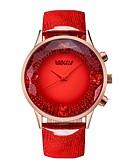 hesapli Paslanmaz Çelik-BAOGELA Kadın's Bilek Saati Japonca Japon Kuvartz Gerçek Deri Mavi / Kırmızı 30 m Su Resisdansı Yaratıcı Gündelik Saatler Analog Günlük Moda - Kırmzı Mavi