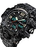 Недорогие Цифровые часы-SKMEI Муж. Для пары Армейские часы электронные часы Морские часы с печатью Цифровой Стеганная ПУ кожа Черный 50 m Защита от влаги Календарь Секундомер Аналого-цифровые На каждый день Мода -