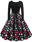 cheap Women's Dresses-Women's Vintage / Elegant Swing Dress - Polka Dot