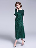 זול שמלות נשים-מידי רקום, פרחוני - שמלה ישרה וינטאג' / סגנון סיני בגדי ריקוד נשים