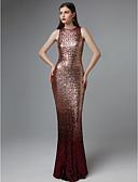 levne Plesové šaty-Pouzdrové Klenot Na zem Flitry Zářivé Formální večer Šaty s Flitry podle TS Couture®