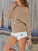 abordables Jerséis de Mujer-Mujer Básico Pullover - Un Color