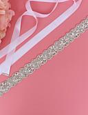 hesapli Parti Çorapları-Saten / Tül Düğün / Özel Anlar Kuşak İle İmistasyon İnci / Kristaller / Yapay Elmaslar Kadın's Kuşaklar
