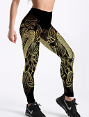 abordables Leggings para Mujer-Mujer Básico Legging - Geométrico Alta cintura