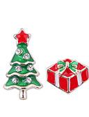 baratos Anáguas para Vestidos de Noiva-Mulheres Incompatível Brincos Curtos - Árvore de Natal senhoras Europeu Fashion Estilo bonito Jóias Vermelho Para Natal Diário 1 par