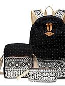 olcso Póló-Női Táskák Vászon táska szettek 3 db erszényes készlet Cipzár Égszínkék / Khakizöld / Tengerészkék