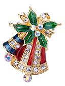preiswerte Hochzeitskleider-Damen Kubikzirkonia Klassisch Broschen - Santa Anzüge, Kreativ Klassisch, Zeichentrick, Modisch Brosche Schmuck Grün Für Weihnachten / Alltag