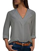 economico Camicie da donna-Blusa Per donna Essenziale Tinta unita