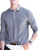 tanie Męskie koszulki polo-męska bawełniana koszulka polo - kołnierzyk w kolorową koszulę