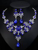 tanie Breloki-Damskie Klasyczny Biżuteria Ustaw - Elegancki, Europejskie, Elegancja Zawierać Kolczyki drop Naszyjniki Biały / Czerwony / Niebieski Na Ślub Codzienny