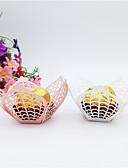 رخيصةأون هدايا المساند للحضور-وردة ورقة من الورق المقوى صالح حامل مع Scattered Bead Floral Motif Style علب الهدايا - 50PCS