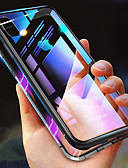 Недорогие Кейсы для iPhone-Кейс для Назначение Apple iPhone XS / iPhone XR / iPhone XS Max Защита от удара / Прозрачный / Магнитный Чехол Однотонный Твердый Закаленное стекло