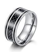 povoljno Kvarcni satovi-Muškarci Band Ring Prsten 1pc Crn Sive boje Braon Volfram čelik nehrđajući Umjetnički Vintage pomodan Vjenčanje Maškare Jewelry Klasičan Cool