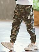 levne Chlapecké kalhoty-Děti Chlapecké Aktivní Denní Jednobarevné Vrstvené / Patchwork Bavlna / Polyester Kalhoty Armádní zelená