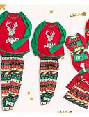 povoljno Obiteljski komplet odjeće-Obiteljski izgled Osnovni Božić Dnevno Geometrijski oblici Color block Dugih rukava Komplet odjeće Duga