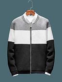 cheap Men's Gloves-Men's Daily Street chic Color Block Long Sleeve Skinny Regular Pullover Black / Navy Blue / Gray XL / XXL / XXXL