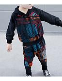 Χαμηλού Κόστους Μπλουζάκια για αγόρια-Παιδιά Αγορίστικα Βασικό Μονόχρωμο / Γεωμετρικό Μακρυμάνικο Κανονικό Κανονικό Βαμβάκι / Πολυεστέρας Σετ Ρούχων Μαύρο