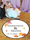billige Klistermærker og etiketter-Bryllup / Fødselsdag Klistermærker, Labels & Tags - 1 pcs Cirkelformet Dansegulvsdekal Alle årstider