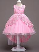 povoljno Haljine za djevojčice-Princeza Vintage Haljine Kostim za party Djevojčice Kostim Plava / Pink / Fuschia Vintage Cosplay Bez rukávů