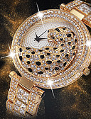 cheap Quartz Watches-Women's Wrist Watch Diamond Watch Gold Watch Japanese Japanese Quartz Stainless Steel Silver / Gold 30 m Creative New Design Cool Analog Ladies Luxury Fashion Bling Bling - Gold Silver Gold / Silver