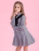 preiswerte Damen Socken & Strumpfwaren-Kinder Mädchen Aktiv / Süß Alltag / Festtage Gestreift Langarm Baumwolle / Polyester Kleid Blau