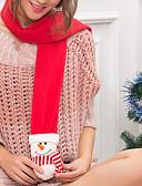 abordables Bufandas de Raso Chics-Mujer Borla Rectángulo - Básico Estampado