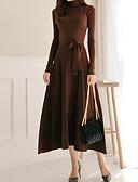 رخيصةأون فساتين مطبوعة-فستان نسائي ضيق طويل للأرض لون سادة