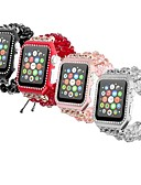 olcso Karóra tartozékok-Fém ház Nézd Band Szíj mert Apple Watch Series 4/3/2/1 Fekete / Fehér / Piros 23cm / 9 inch 2.1cm / 0.83 Hüvelyk