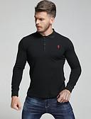 olcso Férfi pólók-Utcai sikk Férfi Polo - Egyszínű