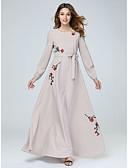 tanie Romantyczna koronka-Damskie Podstawowy Spodnie - Kwiaty Nadruk Rumiany róż / Maxi