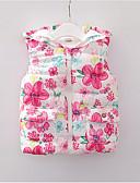 povoljno Vanjska odjeća za bebe-Dijete Djevojčice Osnovni Dnevno Color block Bez rukávů Normalne dužine Pamuk Pernata i pamučna podstava Blushing Pink 100 / Dijete koje je tek prohodalo