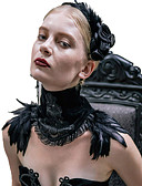 cheap Historical & Vintage Costumes-Black Swan All Vintage Gothic Steampunk Lolita Jewelry Lolita Accessories Necklace Scarf Necklace Black Fashion Feathers Vintage Neckwear Lolita Accessories