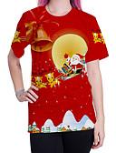 billige T-shirt-Dame - Tegneserie Gade T-shirt Rød L