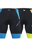 tanie Kwarcowy-Unisex Rower Szorty Oddychający, Szybkie wysychanie Spandeks Zielony i czarny / Niebieski / Czarny Odzież rowerowa