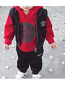 preiswerte Kleidersets für Jungen-Kinder Jungen Grundlegend Alltag Solide Langarm Standard Baumwolle / Polyester Kleidungs Set Orange 100