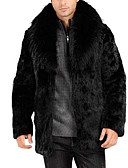 baratos Jaquetas & Casacos para Homens-Homens Casaco de Pêlo Básico - Sólido