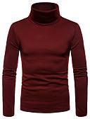 billige Herregensere og -cardigans-T-skjorte Herre - Ensfarget Grunnleggende